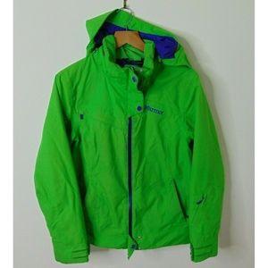 Marmot Medium Full Zip Membrain Ski Jacket Green